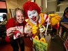 MCDONALDS - Olympic medalist Cindy Klassen and Ronald McDonald load up a Happy Meal at the Sunridge Way McDonald's location as part of McHappy Day. On this day, one dollar from every Big Mac® sandwich, McMuffin® sandwich and Happy Meal® sold will benefit local children's charities across the country.  In Calgary, all funds raised will be donated to Ronald McDonald House.