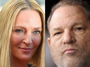 Actress Uma Thurman, who is indelibly linked to Harvey Weinstein's Miramax studio thanks to her iconic roles in