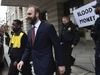 Rick Gates leaves federal court in Washington, Friday, Feb. 23, 2018. Gate, a former top adviser to President Donald Trump's election campaign pleaded guilty to federal conspiracy and false-statements charges in the special counsel's Russia investigation. (AP Photo/Susan Walsh) ORG XMIT: DCSW104