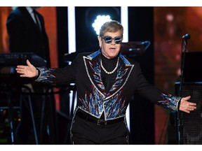 Elton John performs onstage during the 60th Annual GRAMMY Awards at Madison Square Garden on January 28, 2018 in New York City.
