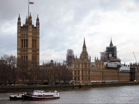 The Elizabeth Tower, commonly known as Big Ben stands near the Houses of Parliament on the bank of the River Thames on January 29, 2018 in London. (Jack Taylor/Getty Images)