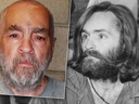 Charles Manson is pictured in two file photo. (RadarOnline)