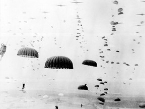 Soldiers parachute into the Netherlands during Operation Market Garden in this September 1944 file photo. (U.S. Army File  Photo)