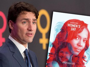 Canadian Prime Minister Justin Trudeau speaks during an event on International Women's day in Ottawa, Wednesday March 8, 2017.