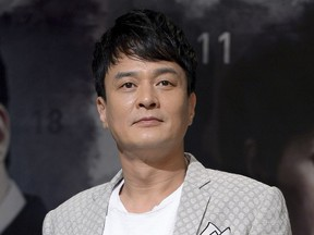 In this July 31, 2013, photo, South Korean actor Jo Min-ki poses during an event to promote his TV drama in Seoul, South Korea. Police and fire officials said Jo Min-ki was found dead in Seoul on Friday, March 9, 2018. Yonhap News agency said the death is being treated as a suicide, but police would not confirm that.