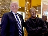 Singer Kanye West and President-elect Donald Trump speak with the press after their meetings at Trump Tower December 13, 2016 in New York. / AFP PHOTO / TIMOTHY A. CLARYTIMOTHY A. CLARY/AFP/Getty Images