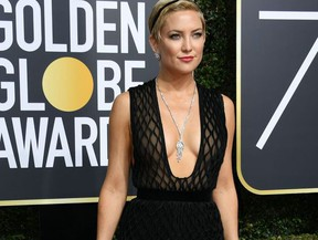 Actress Kate Hudson arrives for the 75th Golden Globe Awards on January 7, 2018, in Beverly Hills, California.