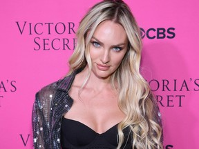 NEW YORK, NY - NOVEMBER 28:  Victoria's Secret Angel Candice Swanepoel attends as Victoria's Secret Angels gather for an intimate viewing party of the 2017 Victoria's Secret Fashion Show at Spring Studios on November 28, 2017 in New York City.  (Photo by Dimitrios Kambouris/Getty Images for Victoria's Secret)