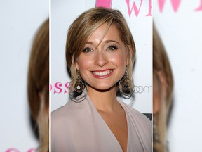 "Actress Allison Mack attends the ""Love, Loss, And What I Wore"" new cast member celebration at 44 1/2 on July 29, 2010 in New York City.  (Photo by Bryan Bedder/Getty Images)"