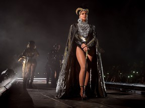 Beyonce Knowles performs onstage during 2018 Coachella Valley Music And Arts Festival Weekend 1 at the Empire Polo Field on April 14, 2018 in Indio, Calif. (Larry Busacca/Getty Images for Coachella )
