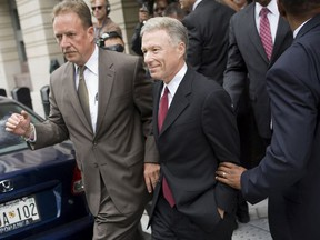 """Lewis """"Scooter"""" Libby leaves Federal Court in Washington, D.C., Thursday, June, 14, 2007."""