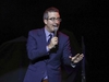 FILE - In this Nov. 7, 2017 file photo, comedian John Oliver performs at the 11th Annual Stand Up for Heroes benefit in New York. Oliver's show, which begins its fifth season on Sunday. (Photo by Brent N. Clarke/Invision/AP, File) ORG XMIT: NYET127