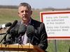 Conservative MP Ted Falk speaks during a press conference to discuss the increase of illegal border crossings near Emerson, Man., on Friday, May 5, 2017. THE CANADIAN PRESS/Trevor Hagan ORG XMIT: WPGT102