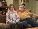 In this image released by ABC, Roseanne Barr, left, and John Goodman appear in a scene from the reboot of