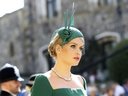 Lady Kitty Spencer arrives for the wedding ceremony of Prince Harry and Meghan Markle at St. George's Chapel in Windsor Castle in Windsor, near London, England, Saturday, May 19, 2018.