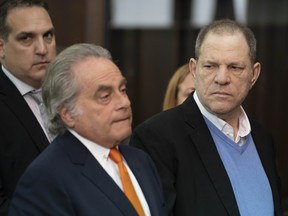 Harvey Weinstein along with his attorney Benjamin Brafman (L) appears at his arraignment in Manhattan Criminal Court on Friday, May 25, 2018.  (Steven Hirsch-Pool via Getty Images)