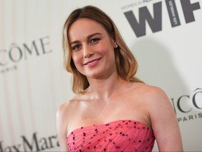 US actress Brie Larson attends the 2018 Women in Film Crystal + Lucy Awards, at the Beverly Hilton hotel in Beverly Hills on June 13, 2018. (Valerie Macon/Getty Images)