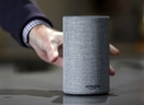 A new Amazon Echo is displayed during a program announcing several new Amazon products by the company, in Seattle on Sept. 27, 2017. (AP Photo/Elaine Thompson)