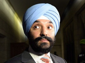 Minister of Innovation, Science and Economic Development Navdeep Bains.