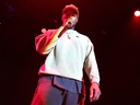Kanye West onstage at adidas Creates 747 Warehouse St. - an event in basketball culture on February 17, 2018 in Los Angeles, Calif. (Neilson Barnard/Getty Images for adidas)