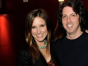 Actress Sophia Bush (L) and creator Mark Schwahn pose at The CW's presentation of 'An Evening with One Tree Hill' at the Arclighht Theater on January 5, 2011 in Los Angeles, Calif. (Kevin Winter/Getty Images)