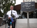 Assistant Commissioner of Specialist Operations Neil Basu at New Scotland Yard reads a statement to the media outside New Scotland Yard on July 9, 2018 in London, England. (Dan Kitwood/Getty Images)