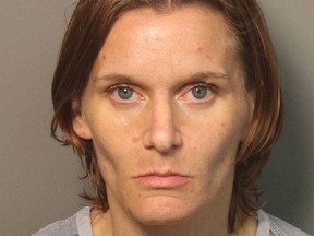 Stephanie Shae Thomas of Trussville, Ala., is shown in a booking photograph taken July 5, 2018, by the Jefferson County Sheriff's Department. (AP Photo/Jefferson County Sheriff's Department)