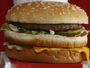 FILE - This Dec. 29, 2009 file photo shows a Big Mac hamburger at a McDonald's restaurant in North Huntingdon, Pa. The fast food restaurant is celebrating the sandwich's 50th anniversary in 2018.