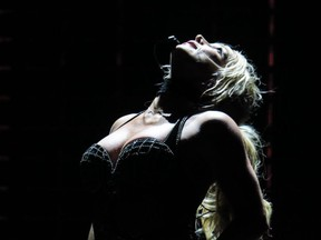 Britney Spears performs at the Open Air Theatre in Scarborough, United Kingdom on August 17, 2018.
