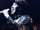 Madonna presents a tribute to Aretha Franklin, pictured on screen, at the MTV Video Music Awards at Radio City Music Hall on Monday, Aug. 20, 2018, in New York.