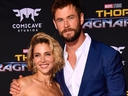 Chris Hemsworth and Elsa Pataky arrive at the Premiere Of Disney And Marvel's