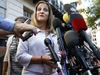 Canada's Foreign Affairs Minister Chrystia Freeland speaks to the media as she arrives for trade talks at the Office of the United States Trade Representative, Thursday, Aug. 30, 2018, in Washington. (AP Photo/Jacquelyn Martin) ORG XMIT: DCJM105