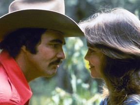 Burt Reynolds and Sally Field in a scene from Smokey and the Bandit.