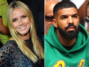 Heidi Klum and Drake. (Getty Images file photos)