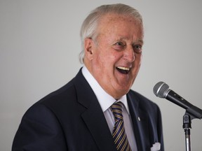 Former Canadian Prime Minister Brian Mulroney speaks at the Annandale Golf Club in Ajax, Ont. on March 5, 2018.  (Ernest Doroszuk/Toronto Sun/Postmedia Network)