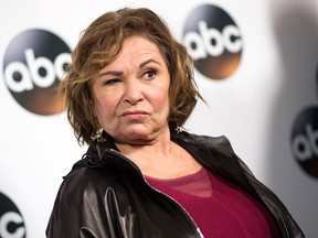 In this file photo taken on Jan. 8, 2018 actress Roseanne Barr attends the Disney ABC Television TCA Winter Press Tour in Pasadena, Calif.