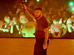 Drake performs at the Scotiabank Arena in Toronto, Ont. on Tuesday August 21, 2018. Veronica Henri/Toronto Sun/Postmedia Network