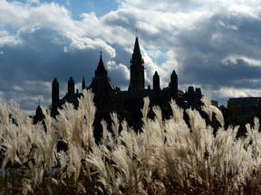 Parliament Hill in Ottawa is viewed from the shores of Gatineau, Quebec on Oct. 22, 2013.