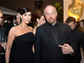 Sarah Silverman and Louis C.K. attend the 88th Annual Academy Awards Governors Ball at The Hollywood & Highland Center in Hollywood, California, on February 28, 2016. (ANGELA WEISS/AFP/Getty Images)
