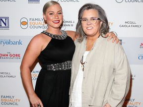 Elizabeth Rooney and Rosie O'Donnell attend Family Equality Council's 'Night At The Pier' at Pier 60 on May 7, 2018 in New York City. (Photo by Astrid Stawiarz/Getty Images for Family Equality Council)