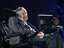 In this Wednesday Aug. 29, 2012 file photo, physicist Stephen Hawking speaks during the Opening Ceremony for the 2012 Paralympics in London, Wednesday Aug. 29, 2012. (AP Photo/Matt Dunham, file)