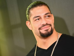 Wrestler Roman Reigns attends the Nickelodeon Kids' Choice Sports 2018 at Barker Hangar on July 19, 2018 in Santa Monica, Calif. (Emma McIntyre/Getty Images)