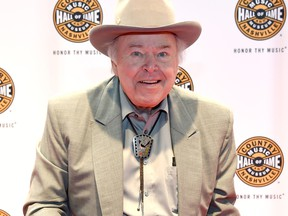 Roy Clark arrives at The 2016 Medallion Ceremony at the Country Music Hall of Fame and Museum on October 16, 2016 in Nashville, Tennessee. (Photo by Rick Diamond/Getty Images for Country Music Hall of Fame & Museum)