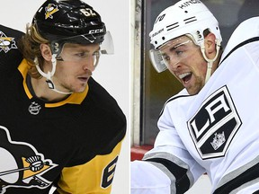 The Penguins sent Carl Hagelin to the Kings for Tanner Pearson in a trade involving forwards on Wednesday, Nov. 14, 2018.