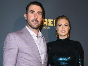 Justin Verlander and Kate Upton attend The Maxim Hot 100 Experience at Hollywood Palladium on July 21, 2018 in Los Angeles, Calif. (Jon Kopaloff/Getty Images)
