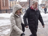 Dennis Oland and his wife Lisa arrive at the Law Courts in Saint John, N.B. on Tuesday, Nov. 20, 2018. His trial in the bludgeoning death of his millionaire father, Richard Oland continues after a two-week hiatus. The verdict from Oland's 2015 murder trial was set aside on appeal in 2016 and a new trial ordered. Richard Oland, 69, was found dead in his Saint John office on July 7, 2011. THE CANADIAN PRESS/Andrew Vaughan ORG XMIT: XAV102