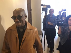 In this Oct. 10, 2018 file photo, plaintiff DeWayne Johnson, a school groundskeeper who says Roundup weed-killer caused his cancer, leaves a courtroom in San Francisco.