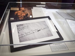 Items that belonged to rapper Tupac Shakur are now part of the Blockson Collection at Temple University, in Philadelphia, Thursday, Nov. 1, 2018.