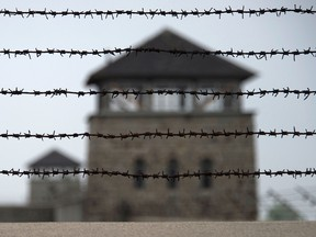 In this file photo taken on April 28, 2015, a barbed wire fence is pictured at the former Nazi concentration camp Mauthausen, northern Austria. (Getty Images)