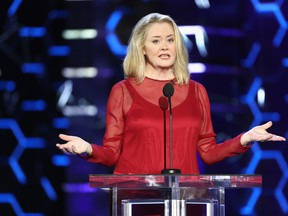 Cybill Shepherd speaks onstage during the Comedy Central Roast of Bruce Willis at Hollywood Palladium on July 14, 2018 in Los Angeles, Calif.  (Frederick M. Brown/Getty Images)